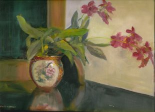 Orchid in Chinese Bowl